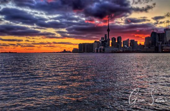 Sunset on April 12