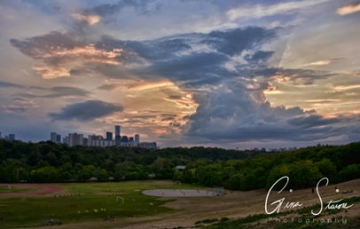 Sunset on July 28, 2016. I