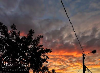 Sunset on July 29, 2016. I