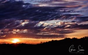 Sunset on August 23, 2016. V