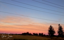 Sunset on August 14, 2016. V