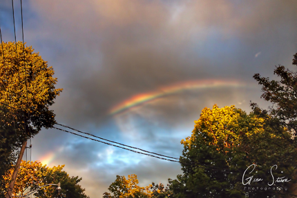 Rainbow and a Sunset on August 21, 2016. I