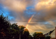Rainbow and a Sunset on August 21, 2016. III