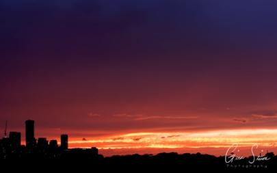 Sunset on September 10, 2016. V