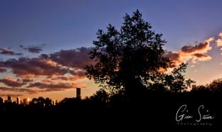 Sunset on September 14, 2016. I