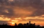 Sunset on October 12, 2016. VI
