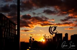 Sunset on October 22, 2016. III