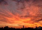 Sunset on November 1, 2016. I