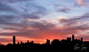 Sunset on March 2, 2017. VI