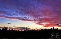 Sunset on March 8, 2017. Part II III