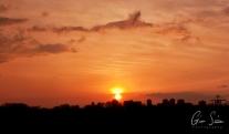 Sunset on April 11, 2017. I