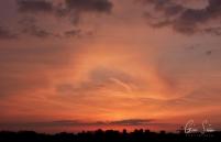 Sunset on April 11, 2017. VI