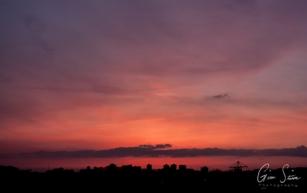 Sunset on April 11, 2017. VIII