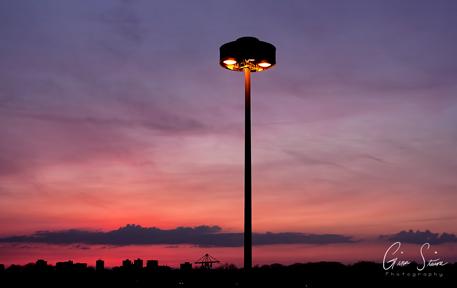Sunset on April 11, 2017. IX