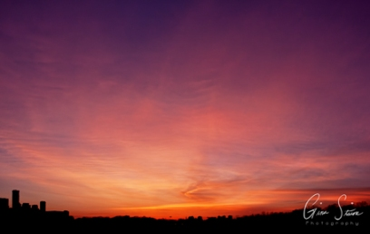 Sunset on April 26, 2017. I