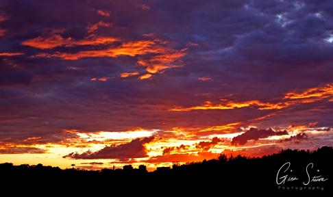 Sunset on June 26, 2017.
