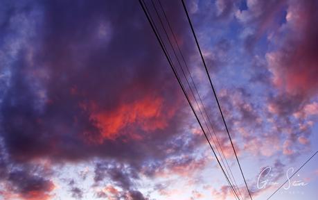 Sunset on July 3, 2017.