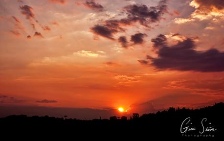 Sunset on July 17, 2017.