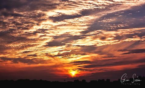 Sunset on July 21, 2017.