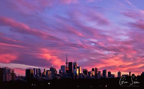 Sunset on July 28, 2017. I