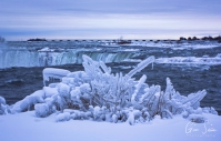 Frozen Niagara on January 7, 2018. VI